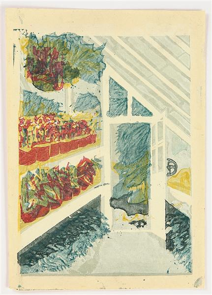 The Shinjuku Gyoen National Garden - Greenhouse, 1949 - Koshiro Onchi