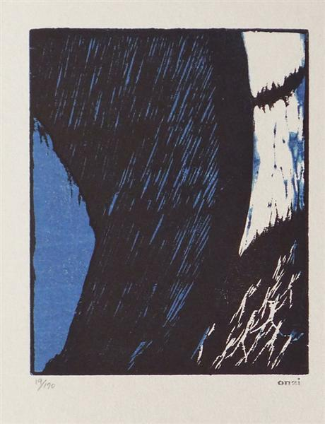 Things Suspended in the Sky, 1914 - Koshiro Onchi