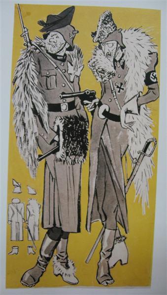 Lady's fashion in Germany. Winter season., 1941 - Kukryniksy
