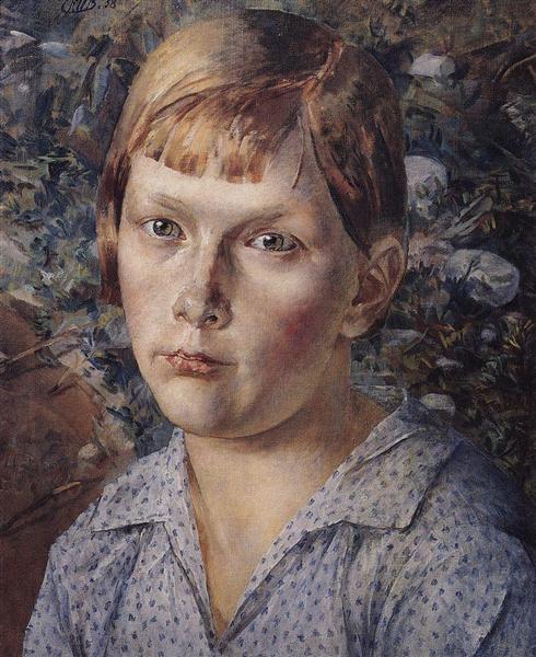 The girl in the woods, 1938 - Kuzma Petrov-Vodkin
