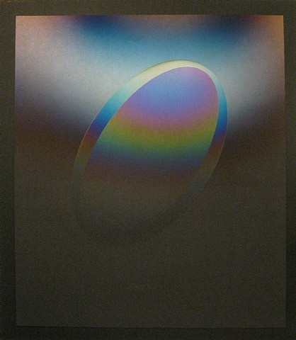 LMELBK 3 (Vapor Drawing), 1985 - Larry Bell