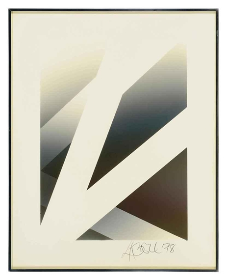 Untitled (vapor drawing), 1978 - Larry Bell