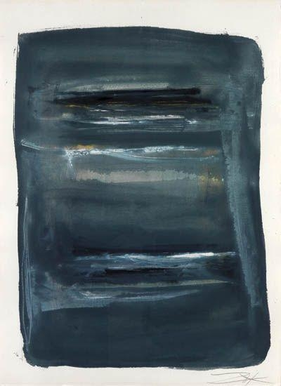 Abstract with Blue and Black - Larry Zox