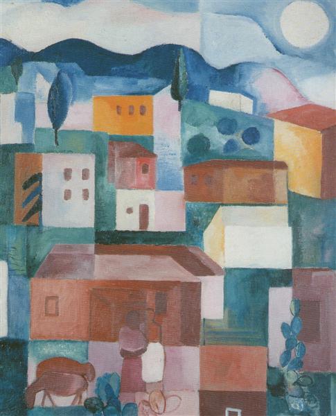 Brazilian Landscape, 1925 - Лазар Сегал