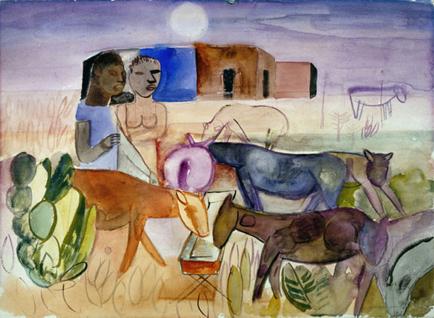 O bebedouro, 1927 - Lasar Segall