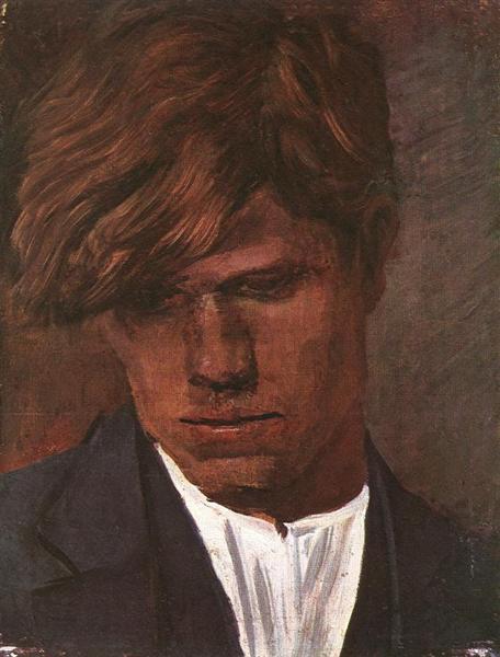 Head of a Boy, 1890 - Laszlo Mednyanszky