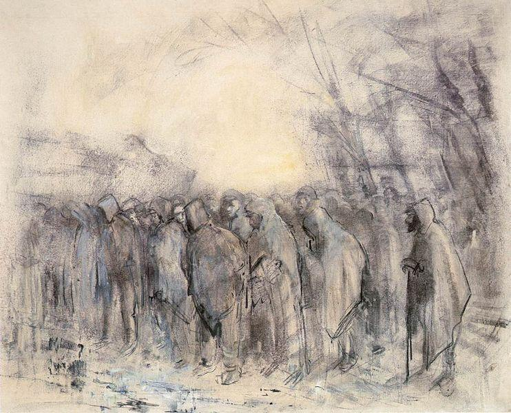 Prisoners Marching Off, 1918 - Laszlo Mednyanszky