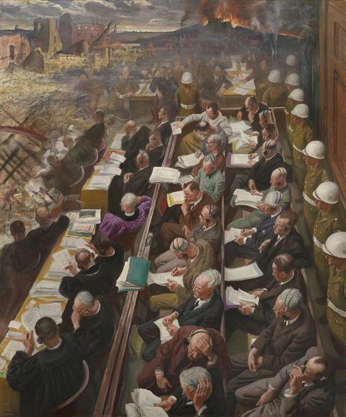 The Nuremberg Trial, 1946 - Laura Knight