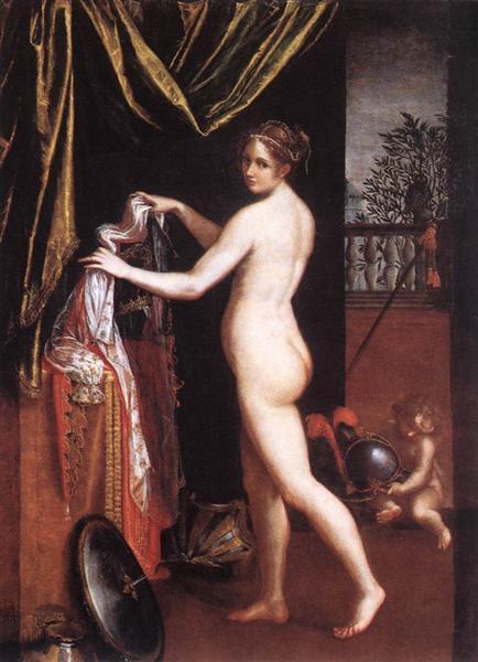Minerva Dressing, 1613 - Lavinia Fontana