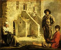 Peasants at their Cottage Door - Le Nain brothers