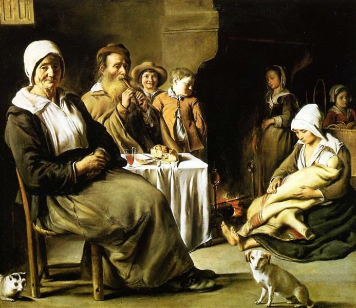 The Family Meal, 1642 - Le Nain (Irmãos Le Nain)