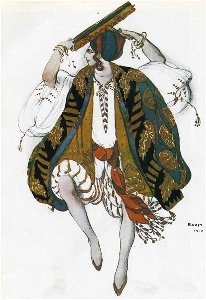 Cleopatre danse juive, 1910 - Leon Bakst