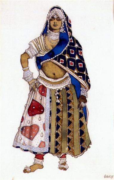 Le dieu bleu bayadere, 1912 - Leon Bakst