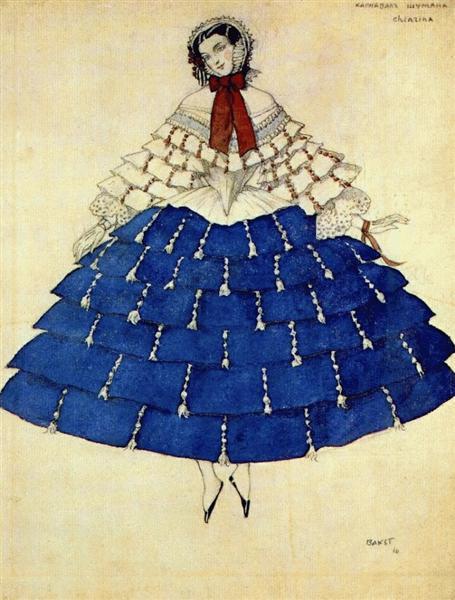 The carnival Chiarina, 1910 - Leon Bakst