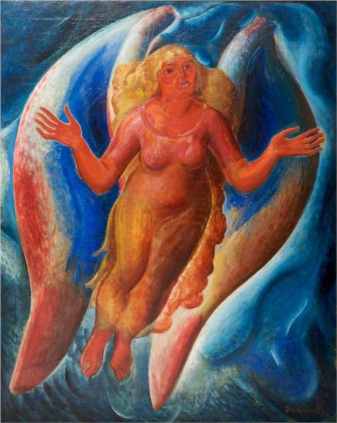 Host of the 4th Dimension (Red Angel), 1927 - Leon Underwood
