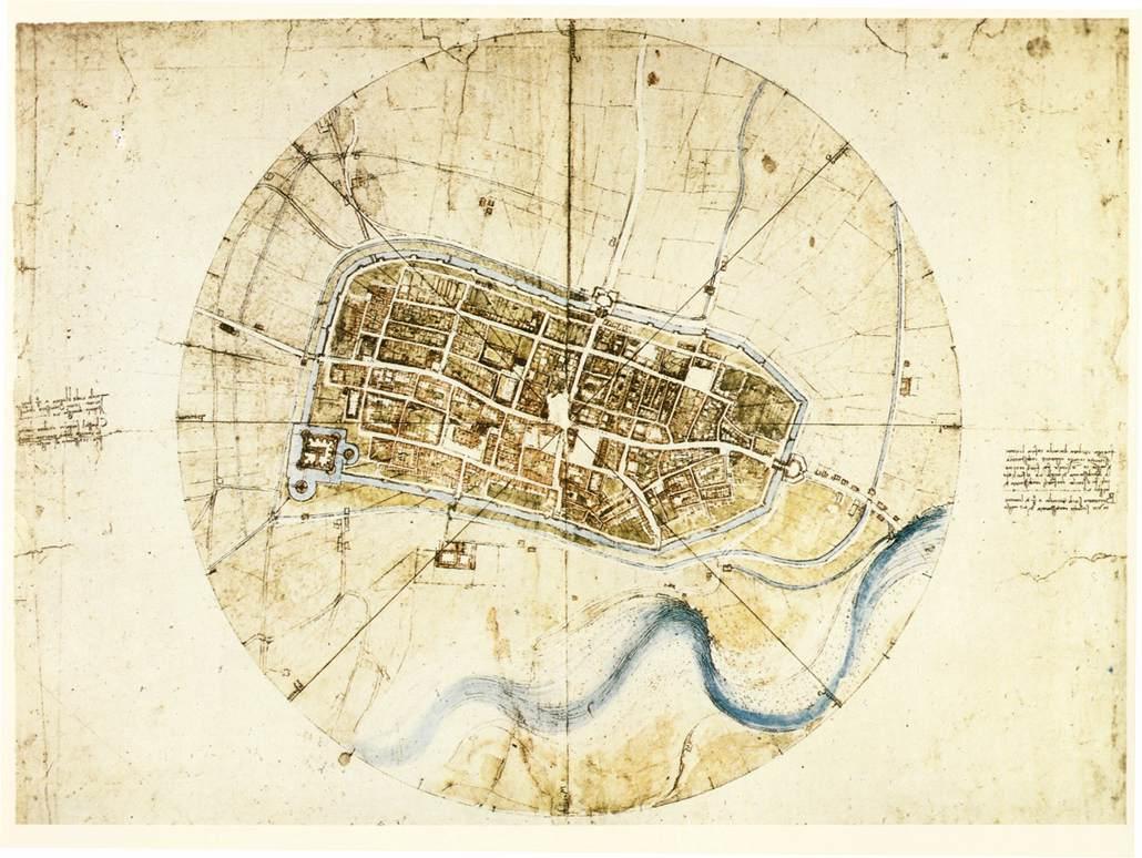 A plan of Imola, 1502