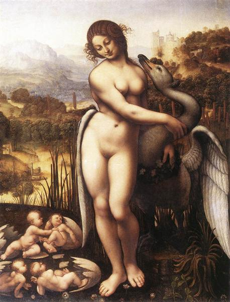 Leda and the Swan, 1510 - Leonardo da Vinci