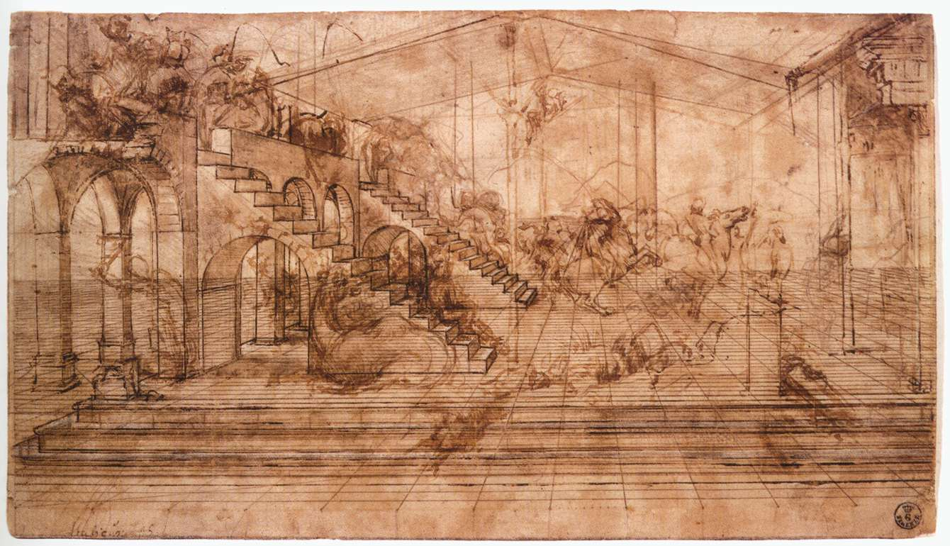 Perspectival study of the Adoration of the Magi, 1481