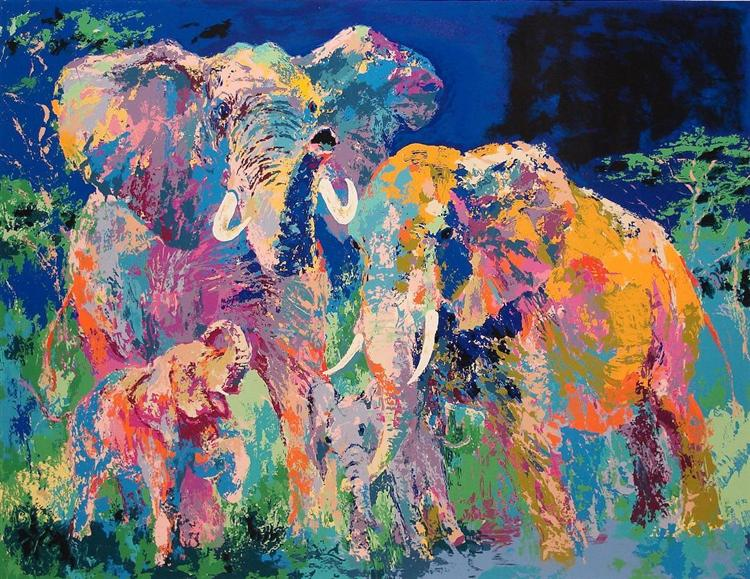 Elephant Family - LeRoy Neiman