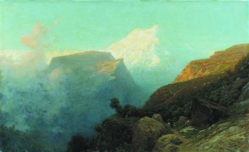 Mist in the mountains. Caucasus. - Lev Lagorio