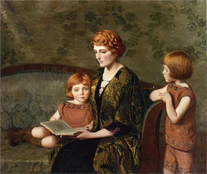 The Story Hour, 1921 - Lilla Cabot Perry