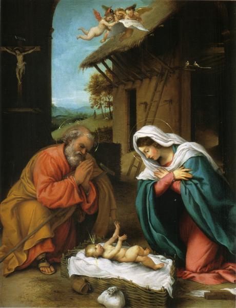 Nativity of Christ, 1523 - Лоренцо Лотто