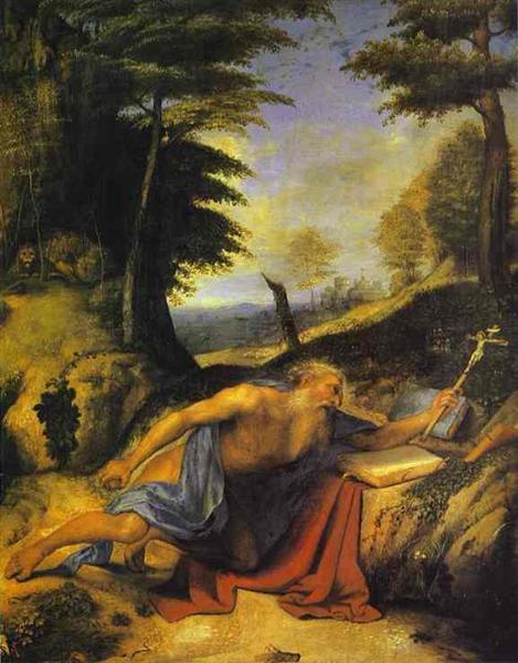 St. Jerome in the Desert, c.1510 - Лоренцо Лотто