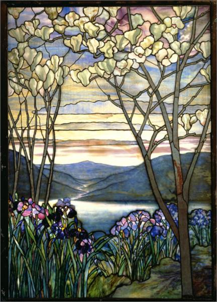 Magnolia and Irises, 1908 - Louis Comfort Tiffany