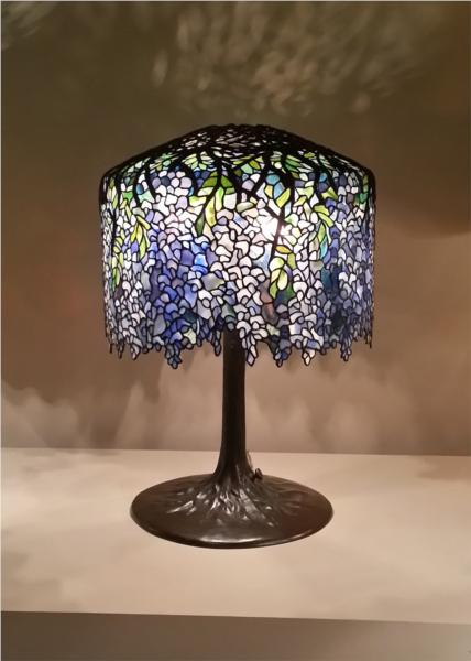 Wisteria table lamp 1902 louis comfort tiffany wikiart wisteria table lamp aloadofball Choice Image
