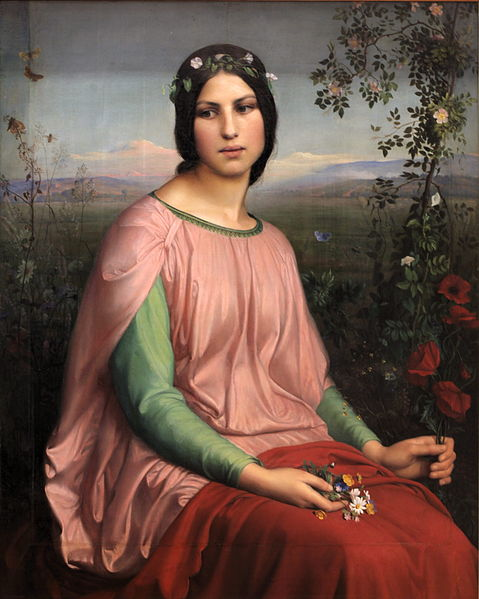 Flower of the Fields, 1845 - Louis Janmot