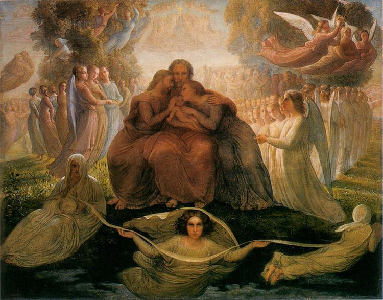 Poème de l'âme 1: Génération divine - Louis Janmot