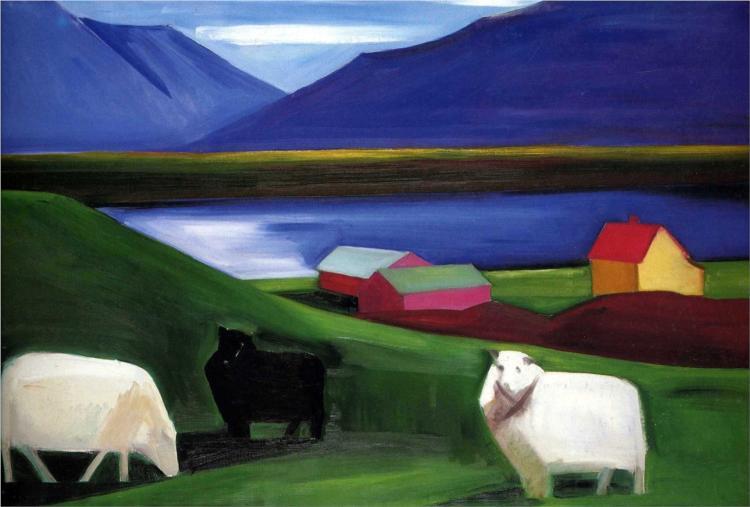 House and Sheep - Louisa Matthiasdottir