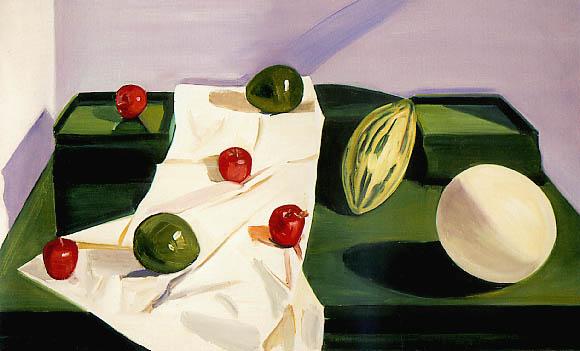 Still Life with Chinese Melon, 1987 - Louisa Matthiasdottir