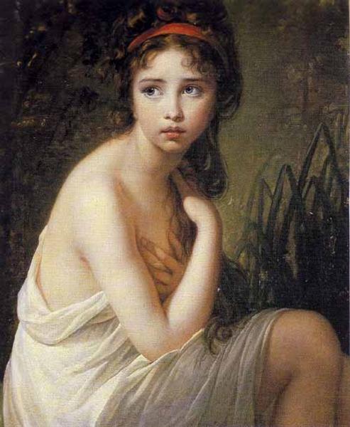 The Bather, 1792 - Louise Elisabeth Vigee Le Brun