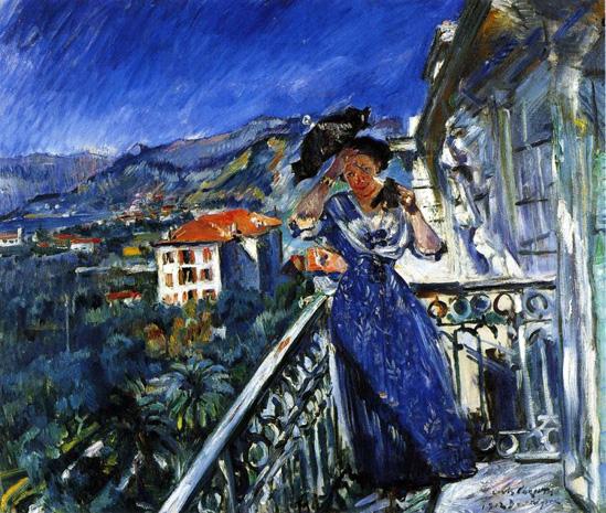 On the Balcony in Bordighera, 1912 - Ловис Коринт
