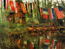 The New Pond in the Tiergarten, Berlin - Lovis Corinth