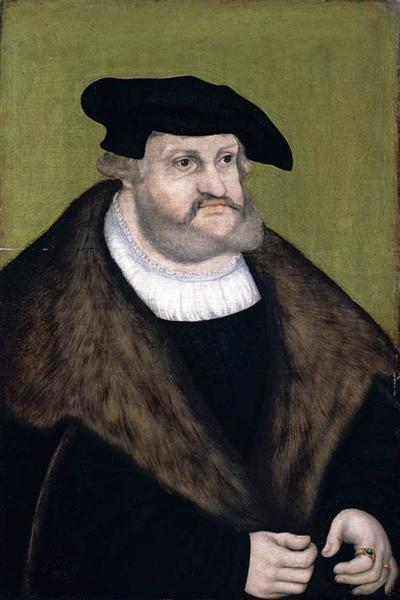 Portrait of Elector Frederick the Wise in his Old Age, 1525 - Lucas Cranach der Ältere