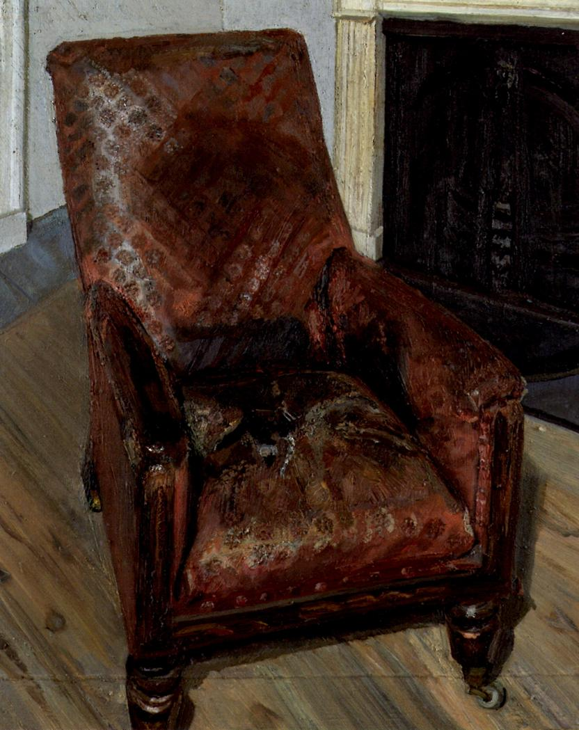 armchair by the fireplace 1997 lucian freud wikiart org