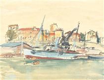 Sozopol Ships - Lucian Grigorescu
