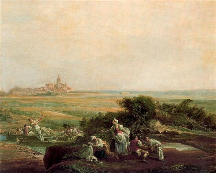 View of Fuenterrabía, 1786 - Луис Парет-и-Алькасар