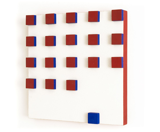 Relief in Red and Blue, 1956 - Lygia Pape