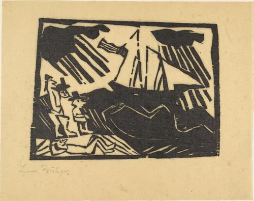 The Yacht Race (Wettsegeln), 1918 - Lyonel Feininger