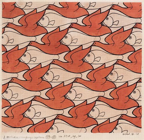 Bird Fish - M.C. Escher