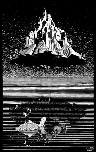 Castle in the Air, 1928 - M.C. Escher