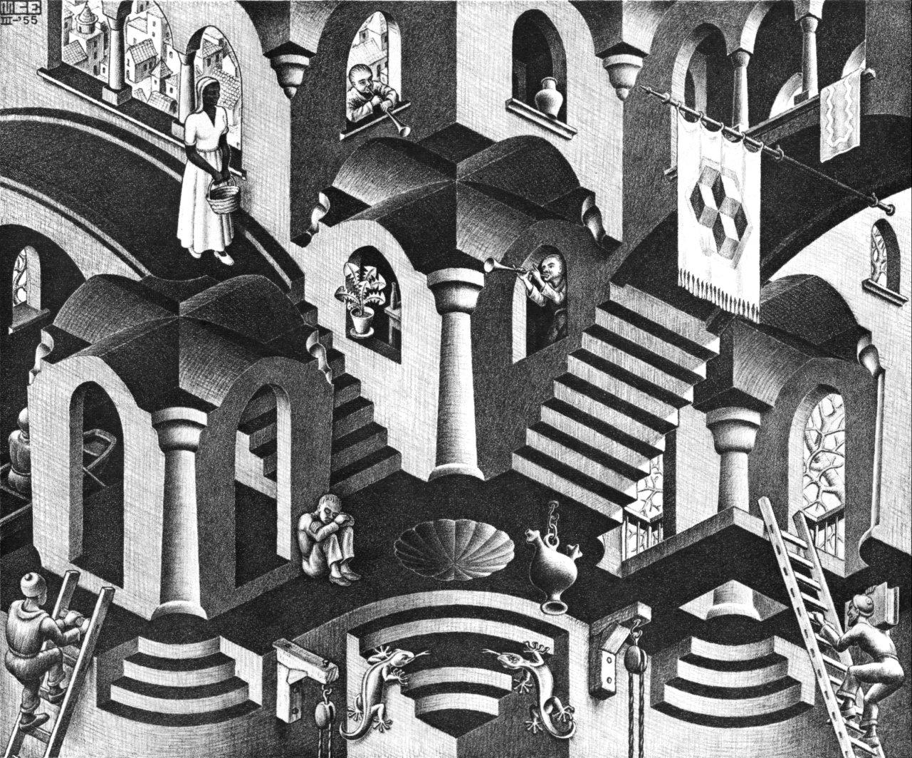 The amazing world of m c escher dulwich picture gallery for Mc escher gallery