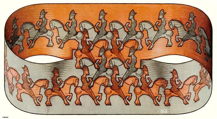 Horsemen, 1946 - M.C. Escher