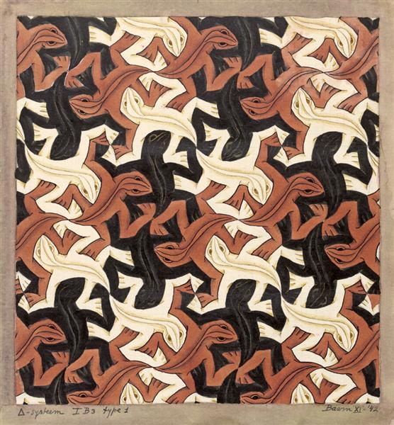 Lizard, 1942 - M.C. Escher