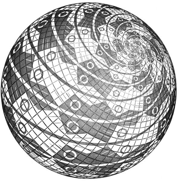 Sphere Surface with Fishes, 1958 - M.C. Escher