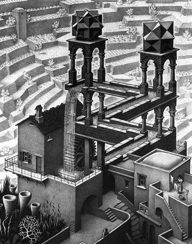 Waterfall - M.C. Escher