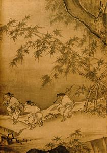 Dancing and Singing (Peasants Returning from Work) (detail 3) - Ma Yuan